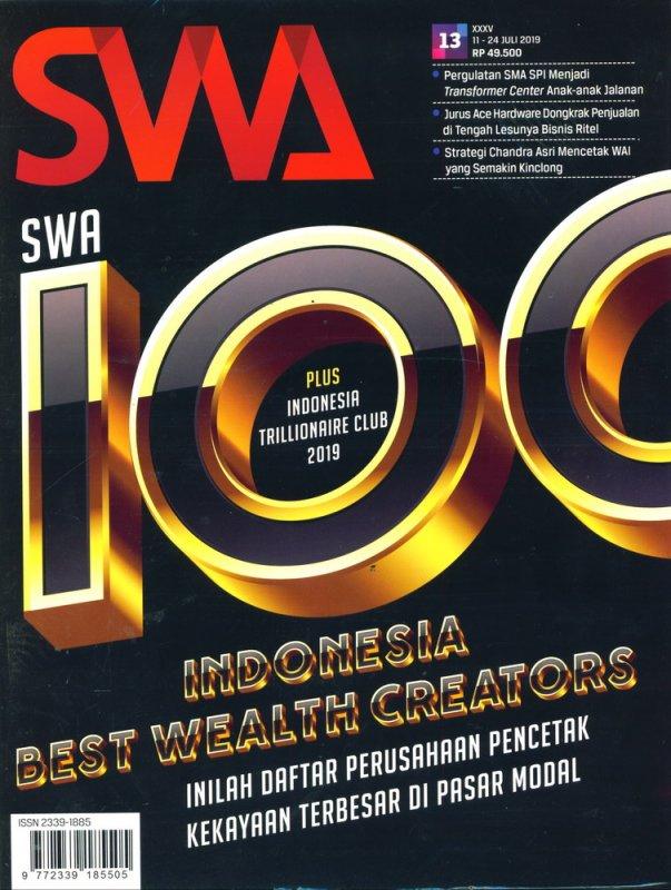 Cover Buku Majalah SWA Sembada No. 13   11-24 Juli 2019