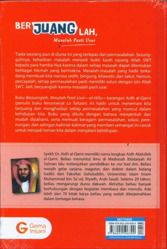Cover Belakang Buku Berjuanglah, Masalah Pasti Usai