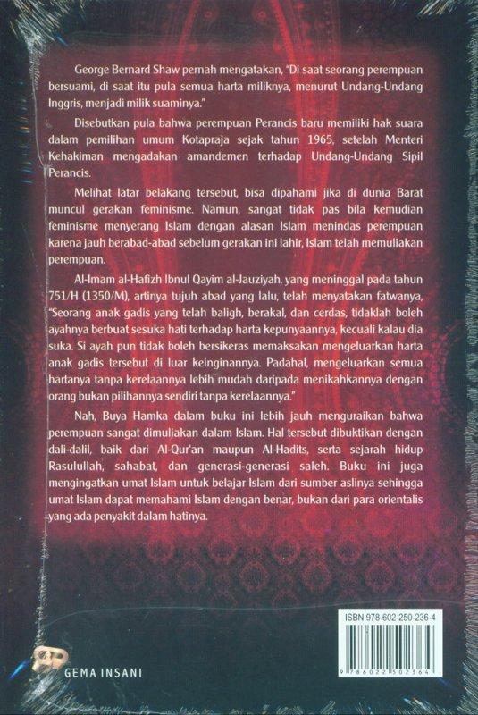 Cover Belakang Buku Buya Hamka Berbicara tentang Perempuan