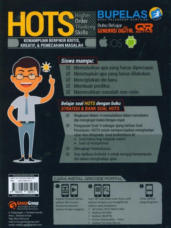 Cover Belakang Buku Strategi & Bank Soal HOTS MATEMATIKA SMA/MA