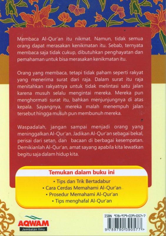 Cover Belakang Buku Cara Cerdas Memahami Al-Quran