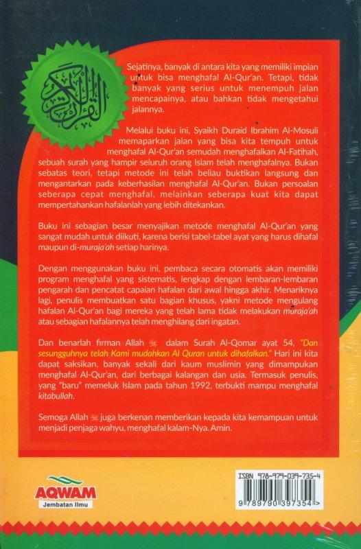 Cover Belakang Buku Hafal Al-Quran Semudah Hafal Al-Fatihah