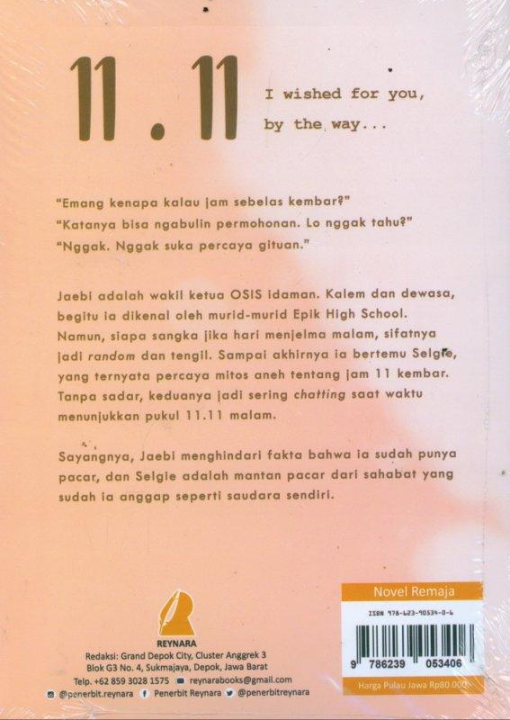 Cover Belakang Buku 11.11 I Wish For You By The Way