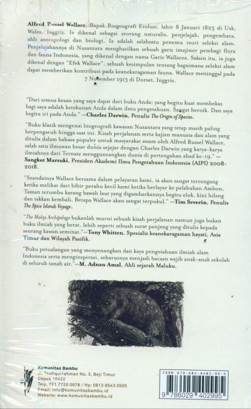 Cover Belakang Buku Kepulauan Nusantara: Kisah Perjalanan, Kajian Manusia dan Alam
