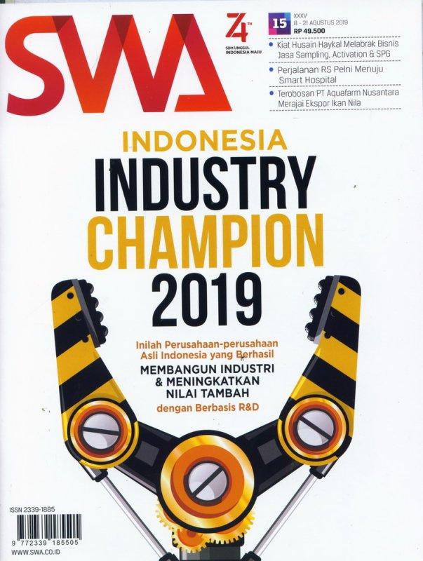 Cover Buku Majalah SWA Sembada No. 15 | 8-12 Agustusi 2019
