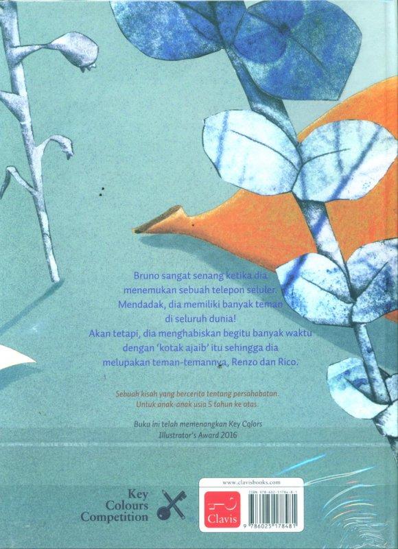 Cover Belakang Buku Bruno Punya 100 Teman - Full Color (Hard Cover)