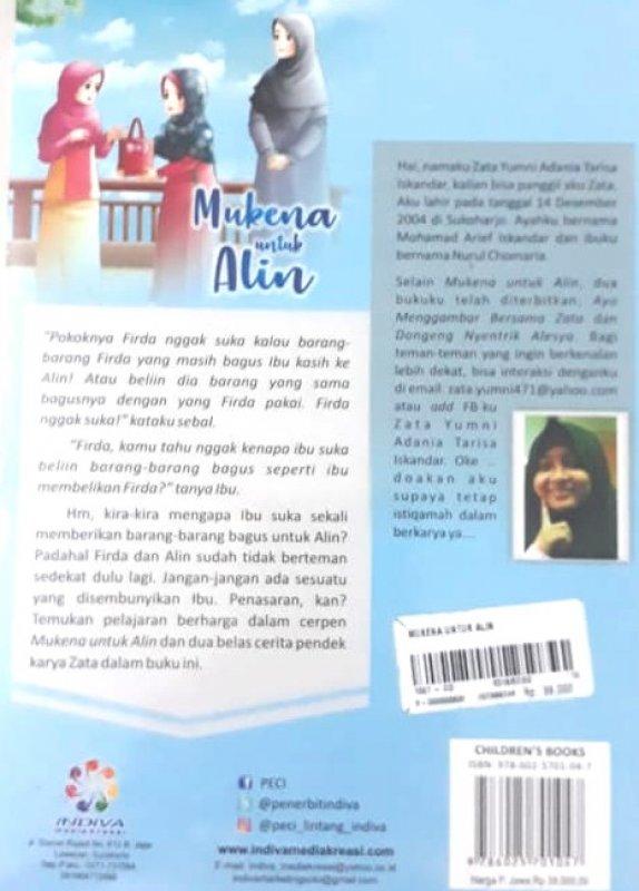 Cover Belakang Buku Mukena untuk Alin (Seri Pendidikan Akhlak untuk Anak)