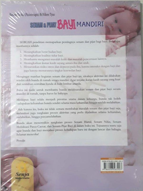 Cover Belakang Buku Senam dan Pijat Bayi Mandiri