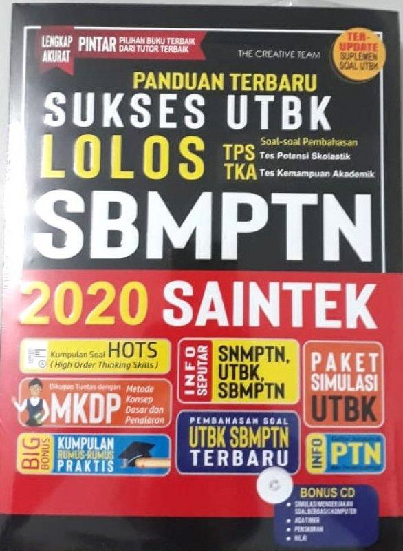 Cover Buku Panduan Terbaru Sukses UTBK Lolos SBMPTN 2020 SAINTEK