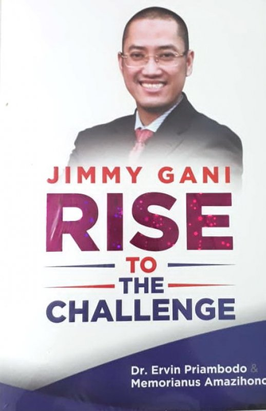 Cover Buku Jimmy Gani Rise To The Challenge