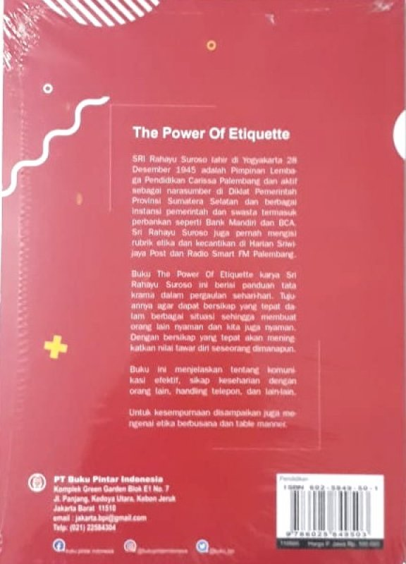 Cover The Power of Etiquette - Kiat Sukses Memasuki Pergaulan Modern