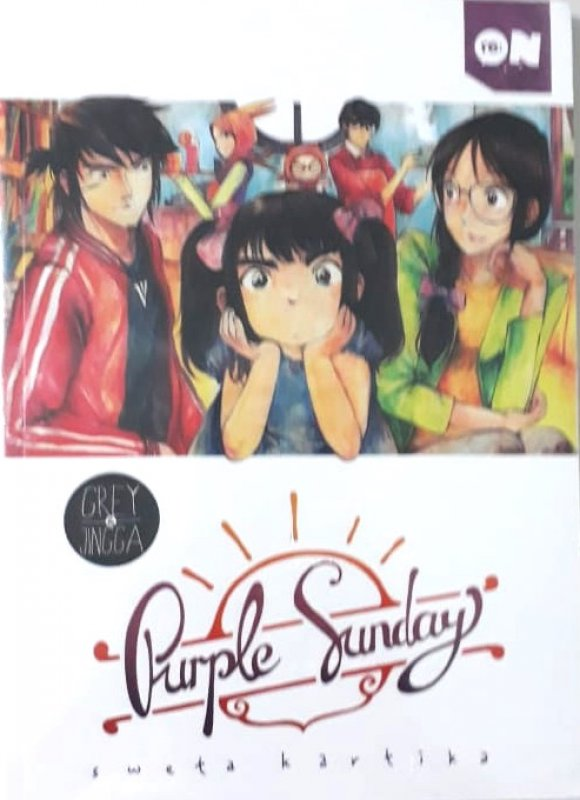 Cover Buku Re:on Grey & Jingga Purple Sunday Vol. 1