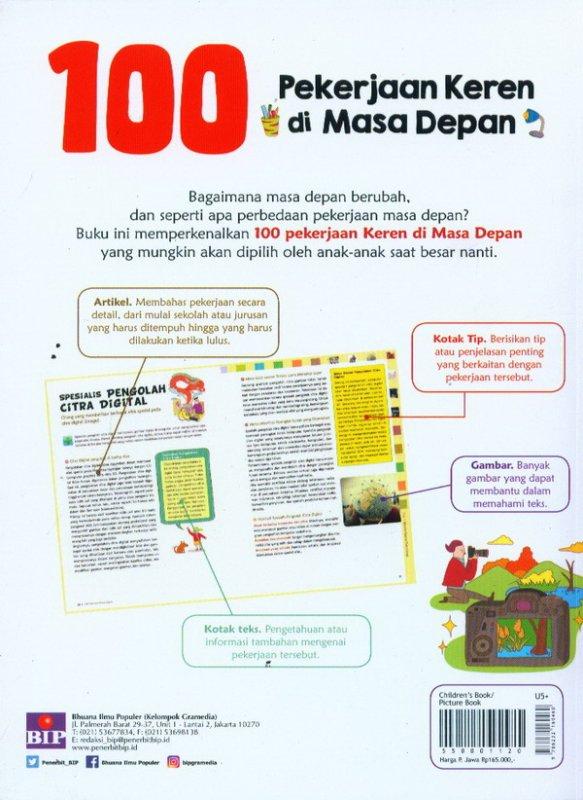 Cover Belakang Buku SPYM: 100 Pekerjaan Keren Di Masa Depan