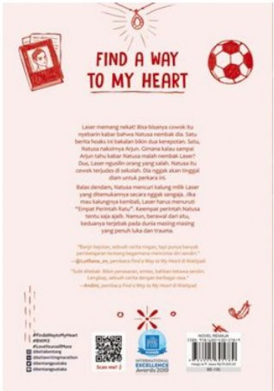 Cover Belakang Buku Find A Way To My Heart