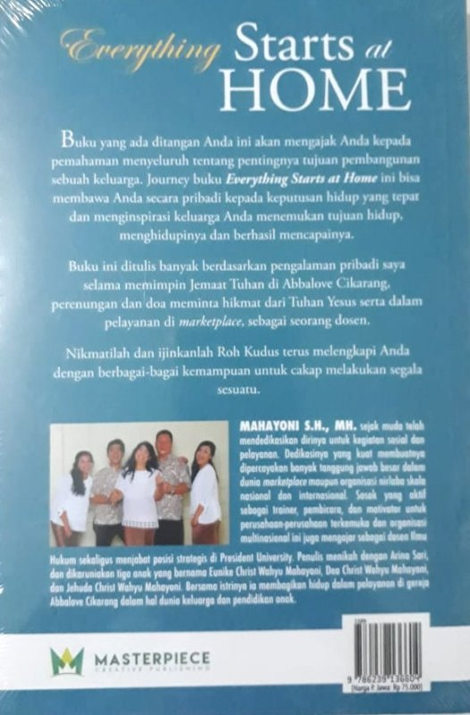 Cover Belakang Buku Everything Starts at Home