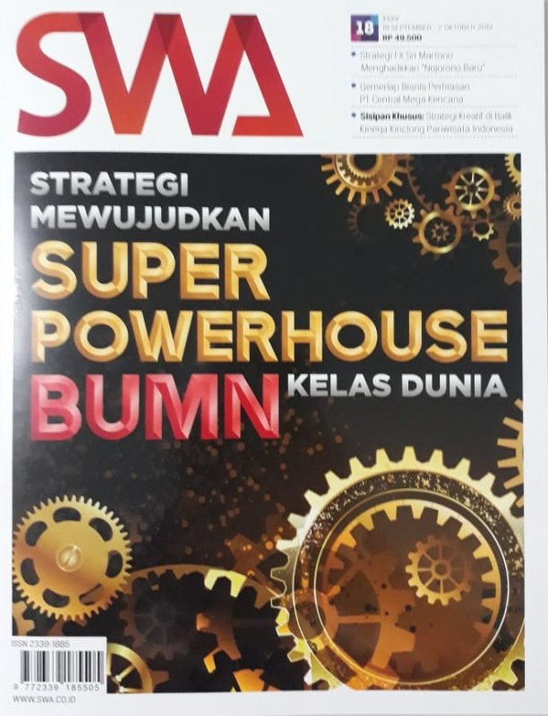Cover Buku Majalah SWA Sembada No. 18 | 19 September - 02 Oktober 2019