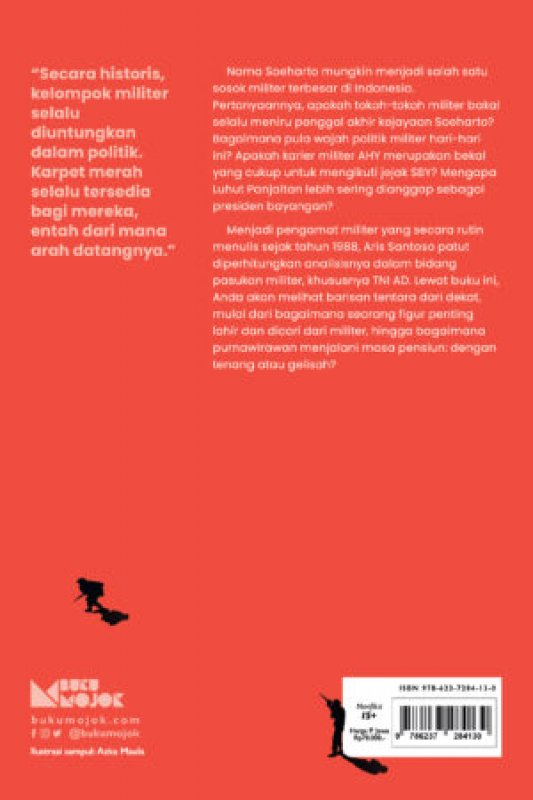 Cover Belakang Buku Merekam Derap Sepatu Lars: Kumpulan Catatan Politik Militer di Indonesia