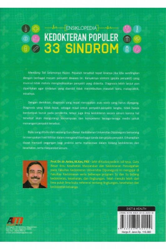 Cover Belakang Buku ENSIKLOPEDIA KEDOKTERAN POPULER: 33 SINDROM