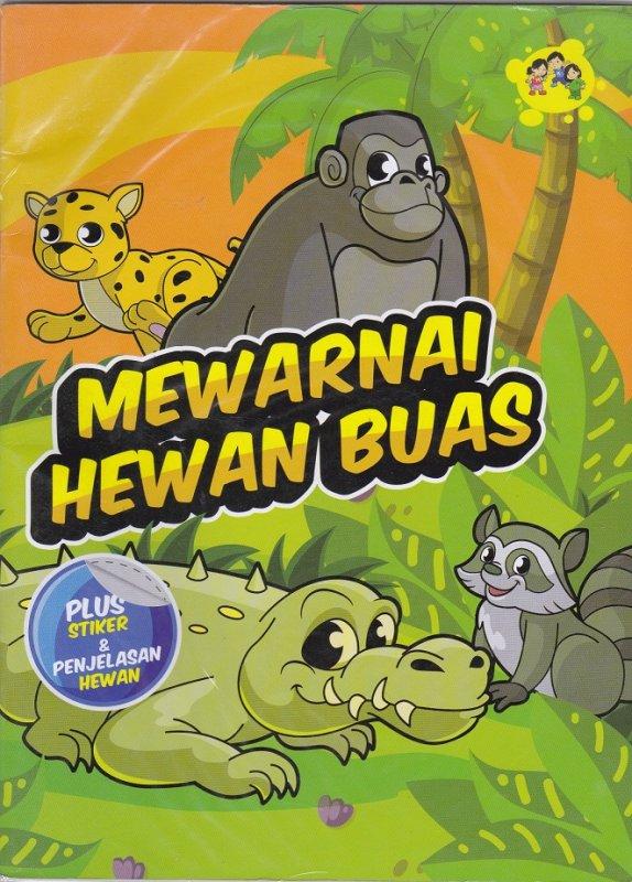 Cover Buku Mewarnai Hewan Buas