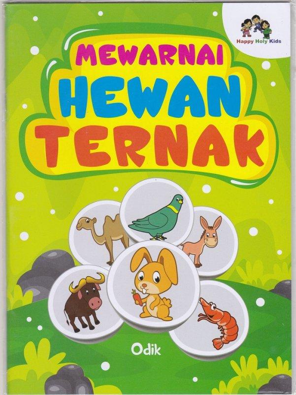 Cover Buku Mewarnai Hewan Ternak