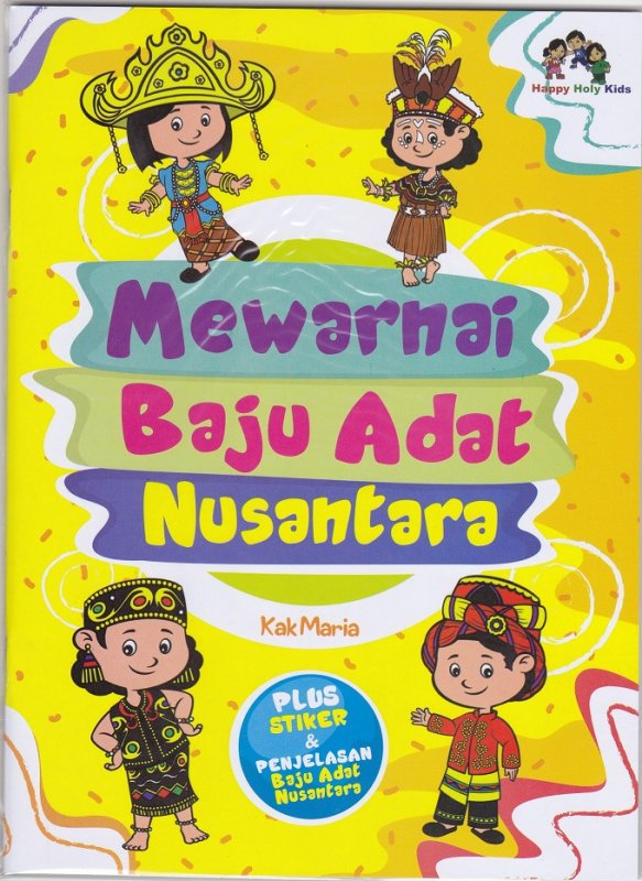 Cover Buku Mewarnai Baju Adat Nusantara