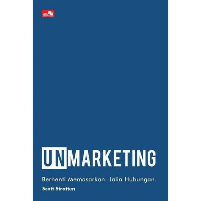 Cover Belakang Buku Unmarketing (2019)
