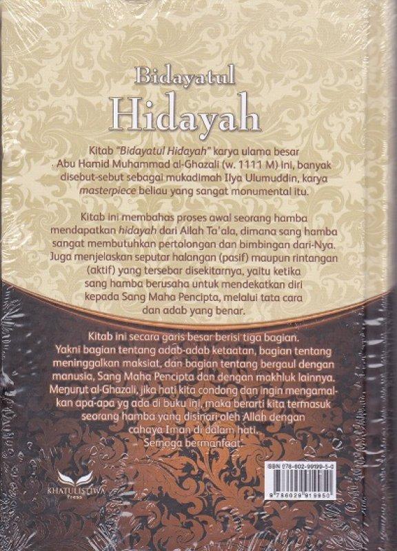 Cover Belakang Buku Bidayatul Hidayah - Jalan Meraih Hidayah Allah New