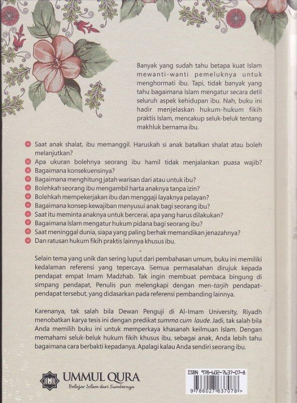 Cover Belakang Buku Fikih Ibu : Himpunan Hukum Islam Khas Ummahat