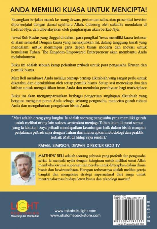 Cover Belakang Buku The Kingdom Empowered Entrepreneur (Pengusaha yang Diberdayakan Kerajaan)