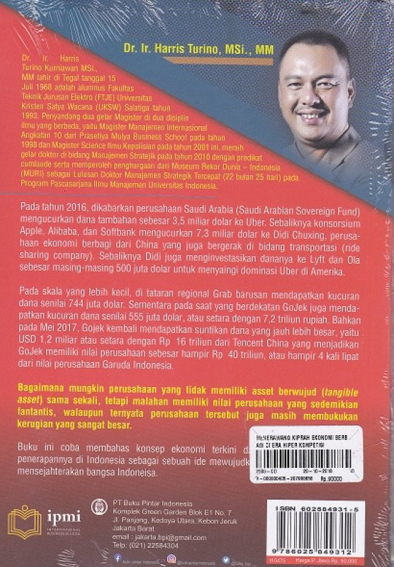 Cover Belakang Buku Menerawang Kiprah Ekonomi Bebagi Di Era Hiper Kompetisi