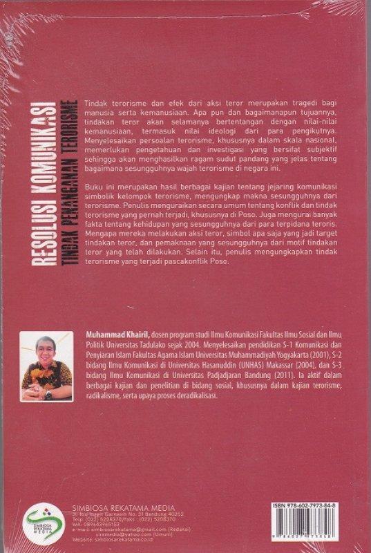 Cover Belakang Buku Resolusi Komunikasi : Tindak Penanganan Terorisme