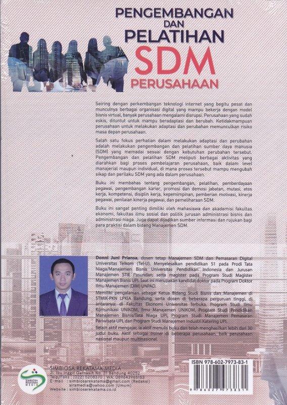 Cover Belakang Buku Pengembangan Dan Pelatihan SDM Perusahaan