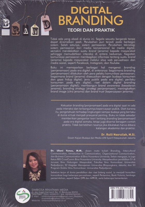 Cover Belakang Buku Digital Branding Teori dan Praktik