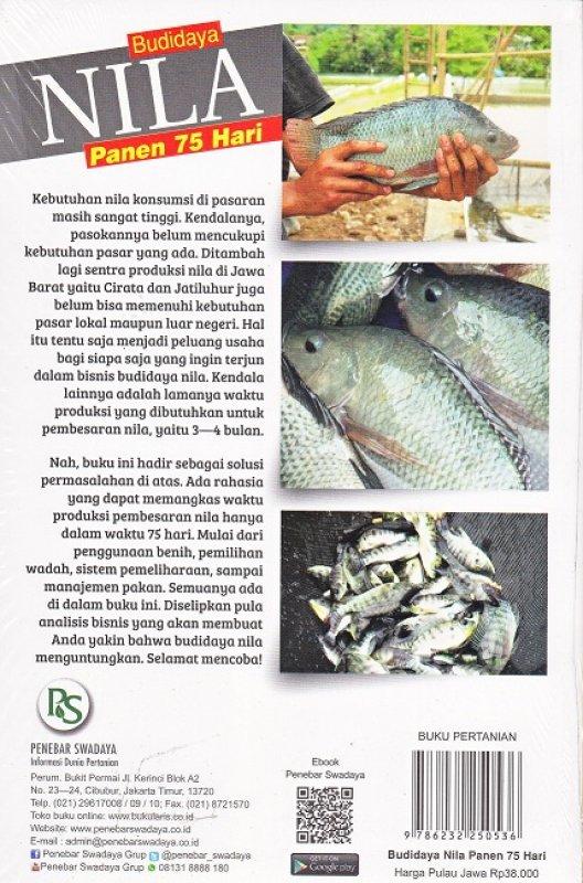 Cover Belakang Buku Budidaya Nila Panen 75 Hari 200-250g/Ekor