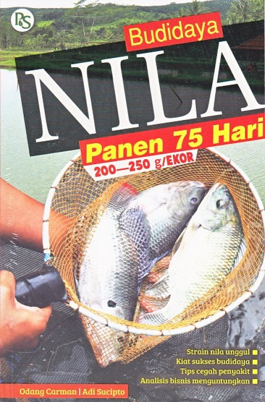 Cover Buku Budidaya Nila Panen 75 Hari 200-250g/Ekor