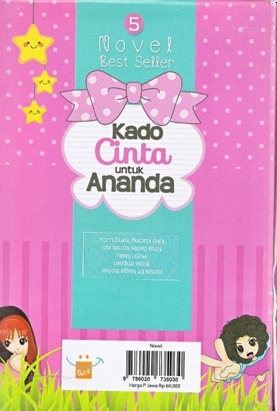 Cover Belakang Buku box paket 5 novel: kado cinta untuk ananda
