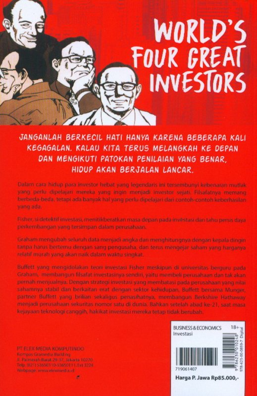 Cover Belakang Buku Investment Guide Series: World`S Four Great Investors