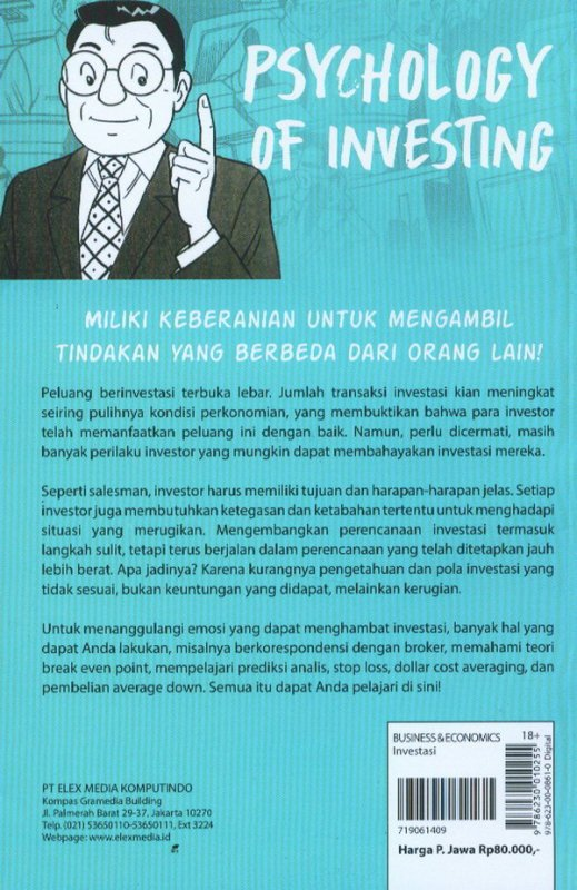 Cover Belakang Buku Investment Guide Series: Psychology Of Investing