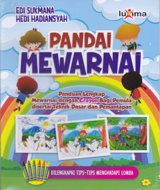 Cover Buku Pandai mewarnai panduan lengkap mewarnai crayon