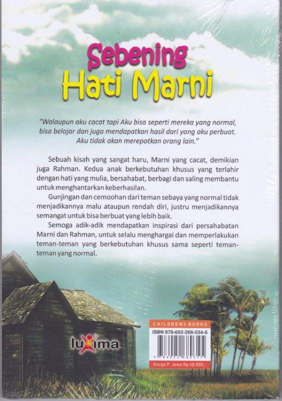 Cover Belakang Buku Sebening Hati Marni