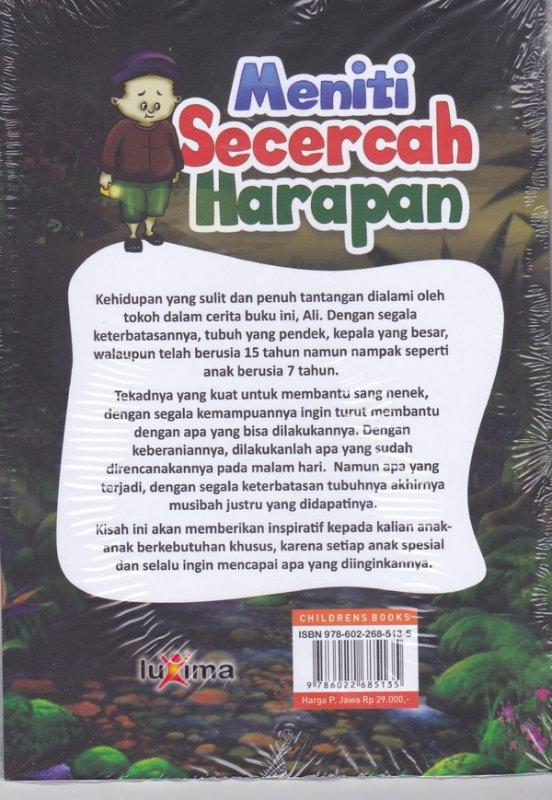 Cover Belakang Buku Meniti Secercah Harapan