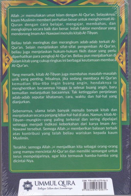 Cover Belakang Buku At Tibyan : Adab membaca & MENGHAFAL aLQUR'AN ( Aqwam )