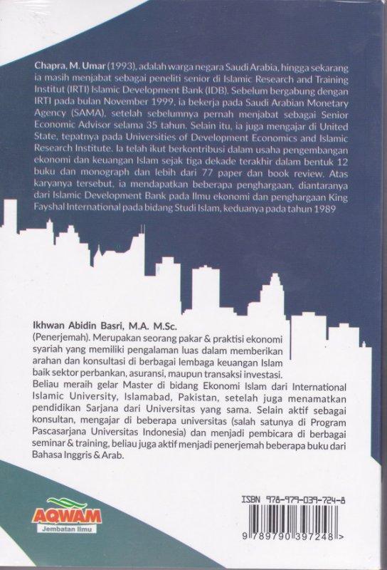 Cover Belakang Buku Islam dan Pembangunan Ekonomi ( Aqwam )