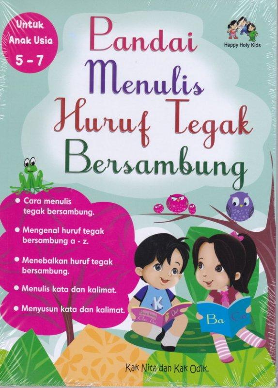 Cover Buku Pandai Menulis Huruf Tegak Bersambung