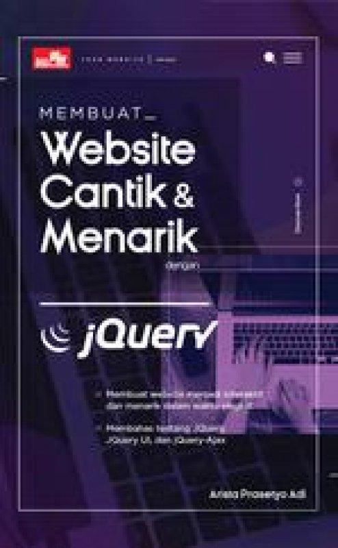 Cover Buku Membuat Website Cantik dan Menarik dengan JQuerys