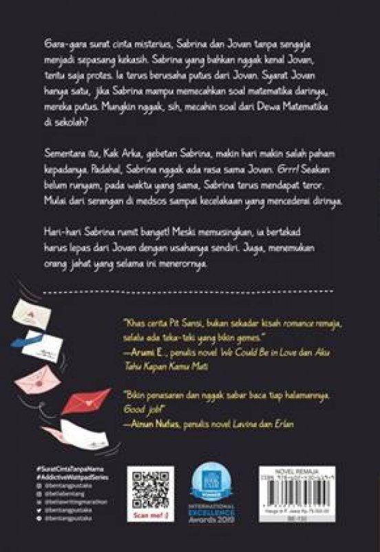 Cover Belakang Buku Surat Cinta Tanpa Nama