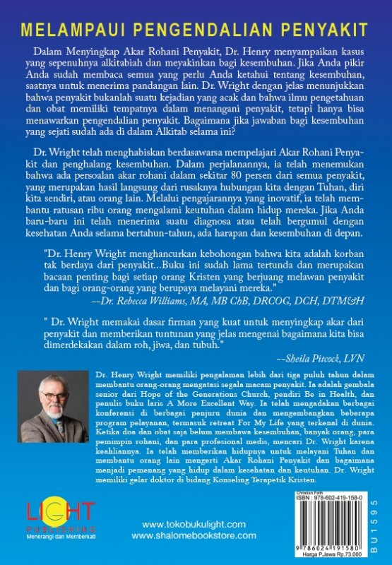 Cover Belakang Buku Menyingkap Akar Rohani Penyakit (Exposing the Spiritual Roots of Disease)