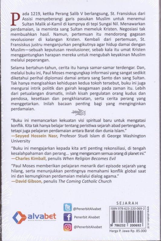 Cover Belakang Buku Diplomasi Damai Santo dan Sultan