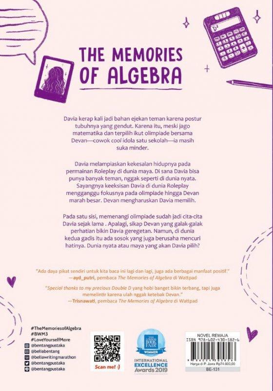 Cover Belakang Buku The Memories of Algebra