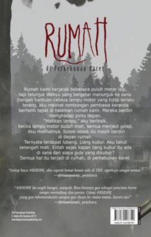 Cover Belakang Buku Rumah di Perkebunan Karet